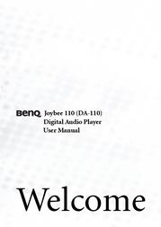 Benq Joybee 110-256MB/Indigo 98.K2005.E04 User Manual