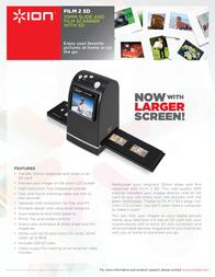 ION Audio FILM 2 SD MK2 FILM2SDMK2 Leaflet