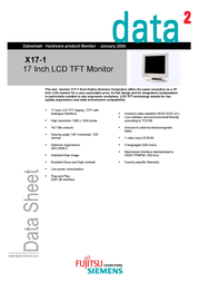 Fujitsu 17IN X17-1  TFT ANA FSP:840002122 데이터 시트