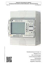 Tip Electricity meter (3-phase) incl. converter jack digital MID-approved: Yes SINUS 5//1 S0 141 User Manual