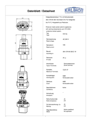 Kalthoff IEC connector C19 Socket, straight Total number of pins: 2 16 A Black 1 pc(s) 444000 Data Sheet