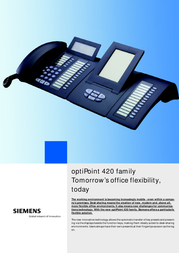 Unify optiPoint 420 standard L30250-F600-A733 User Manual