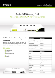 Endian Mercury 100 Firewall Router Specification Guide