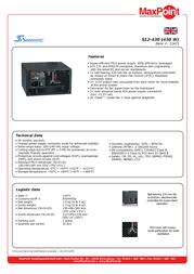 Nanopoint S12-430 power supply S12-430 Leaflet