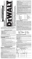 DeWALT DC021 User Manual