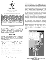 Sonic Alert TR55 Leaflet
