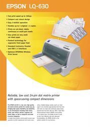 Epson LQ-630 C11C480019A1 Листовка