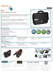 """Tech air 7"""" compatible classic case TAN2110 Leaflet"""