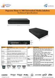 Popcorn Hour A-300 Wi-Fi 1TB A-300/W-1000 Leaflet