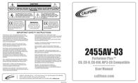 Califone Performer Plus 2455AV-03 User Manual