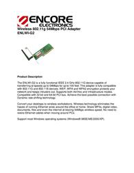ENCORE ENLWI-G2 User Manual