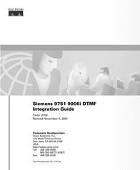 Able Planet Siemens 9751 9006i DTMF User Manual