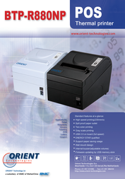 Orient Technologies BTP-R880NP BT8BU-E Leaflet