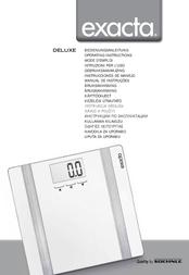 Exakta Smart bathroom scales Deluxe Weight range=180 kg Grey 63317 User Manual