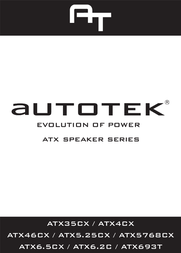 Autotek ATX46CX User Manual