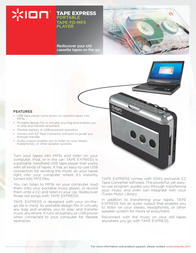 ION Audio TAPE EXPRESS TAPEEXPRESS Leaflet