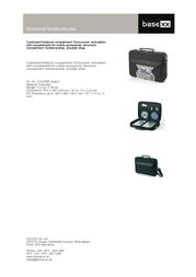 basexx Universal Notebook Case N12228P Leaflet