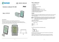Alecto WS-1200 Data Sheet