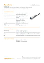 Promethean ActivWand 50 ACTIVWAND50 Leaflet