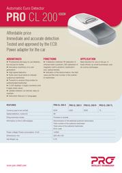 PRO Intellect Technology PRO CL 200 PRO CL 200R Leaflet