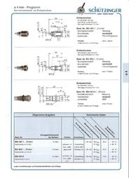 Schuetzinger Fuse connector Socket, vertical vertical Pin diameter: 4 mm Black Schützinger IBU 401 sz 1 pc(s) IBU 401 sz Data Sheet