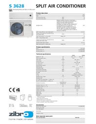 Zibro S 3628 Product Datasheet