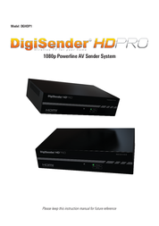Digisender Powerline 4 pc kit 200 Mbit/s DGHDP1-EU Data Sheet