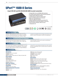 Moxa UPort 1610-8 Serial Hub Specification Guide