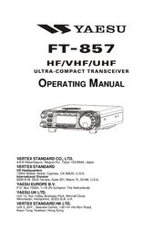 Yaesu FT-857D Operating Guide