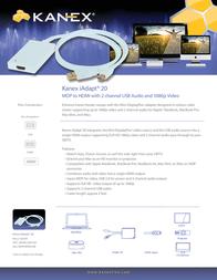 Kanex iAdapt 20 Mini DisplayPort / HDMI + Audio MDPHDMIUSB Leaflet