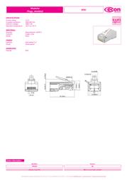 Econ Connect MPL8/8RG, Pin RJ45 Plug, straight MPL8/8RG Data Sheet