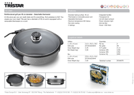 TriStar Multifunctional grill pan PZ-2964 Leaflet