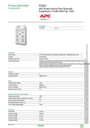 Schneider Electric P4GC Data Sheet