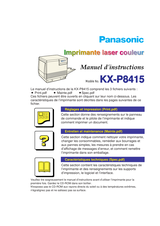 Panasonic KX-P8415 Operating Guide