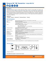 Williams Sound PPA T35 User Manual