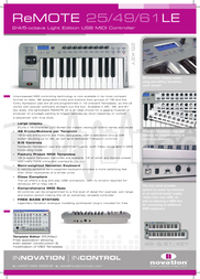 Novation remote le Specification Guide
