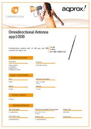 Approx APP10DB Leaflet