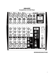 Phonic Am440dp Compact Mixer AM440DP Data Sheet