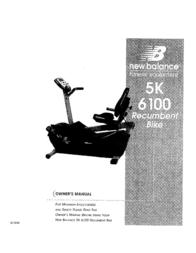 New Balance 5K Owner's Manual
