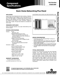 Hometech 47606-BNP Leaflet