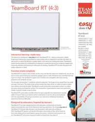 TeamBoard TMWM5442CL User Manual