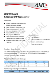 AMC Optics 3CSFP93-AMC User Manual