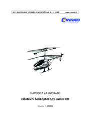 Silverlit Spy Cam II RC Toy Helicopter with Remote Control RtF (84601) 84601 User Manual