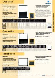 Projecta CinemaLite 10530195 Leaflet