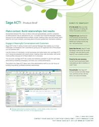 Sage Software ACT! PREMIUM 2011, 10u 1360210 User Manual