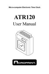 Acroprint ATR120 User Manual