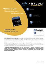 Anycom CF-300 Bluetooth CF Card CC3029-2 Leaflet