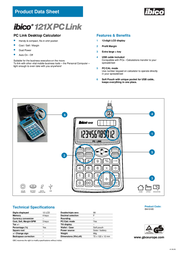 GBC Calculator 121X Link IB410185 Product Datasheet
