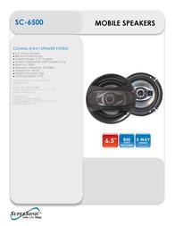 Supersonic SC-6500 Leaflet