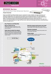 Edge-Core 16-port Fast Ethernet Unmanaged Switch ES3016A Leaflet